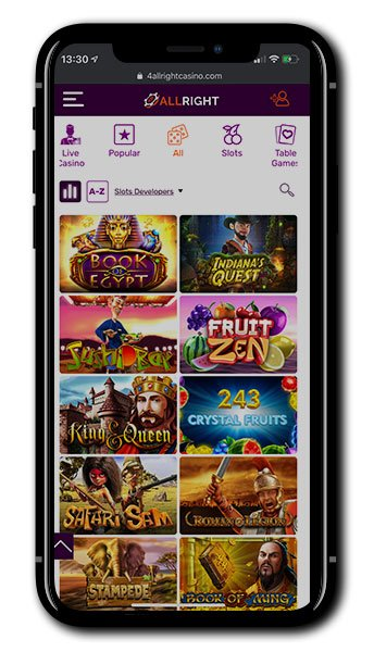 All Right Casino mobile screenshot
