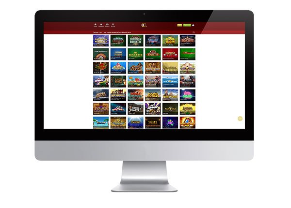 Casino Club Desktop lobby