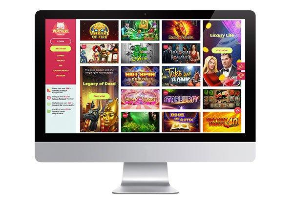Maneki Casino desktop screenshot