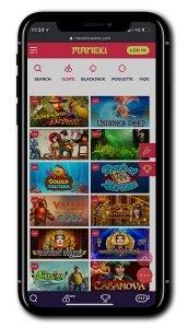 Maneki Casino mobile screenshot