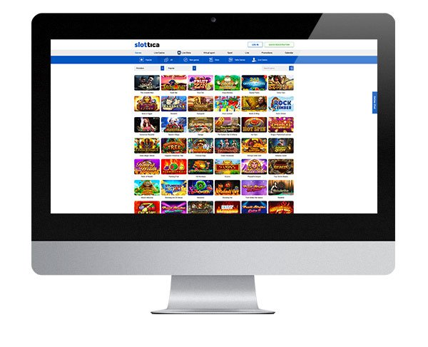 Slottica Casino desktop lobby