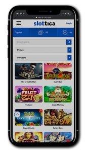 Slottica Casino mobile slots