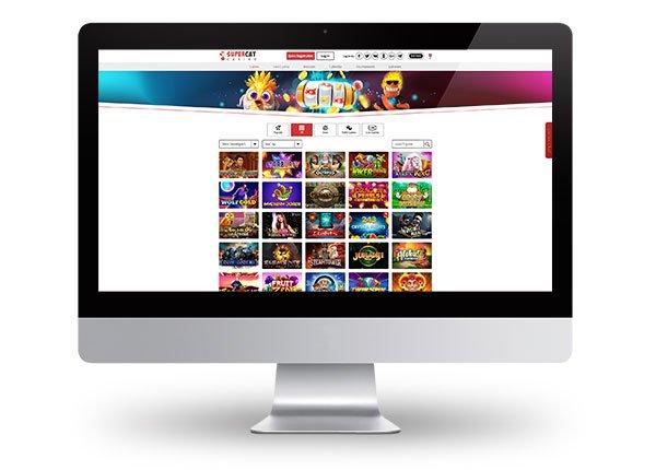 SuperCat Casino Desktop Lobby