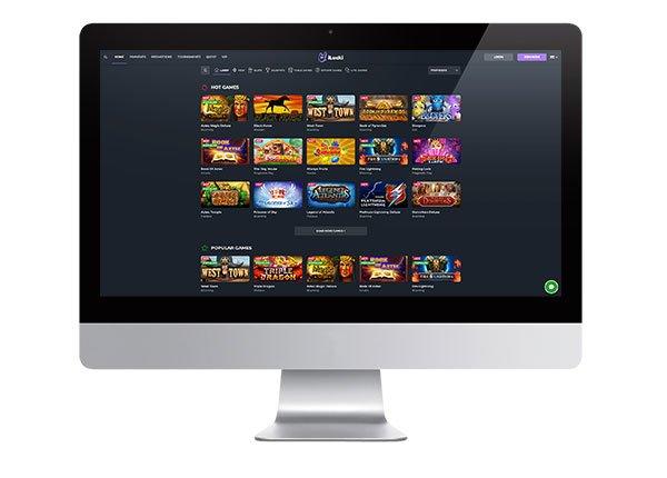 iLUCKi Casino lobby screenshot
