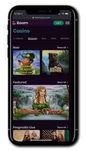 Boom Casino mobile casino games