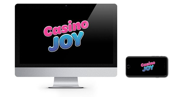 Casino Joy logo on screen