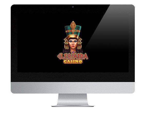 Cleopatra Casino logo on screen