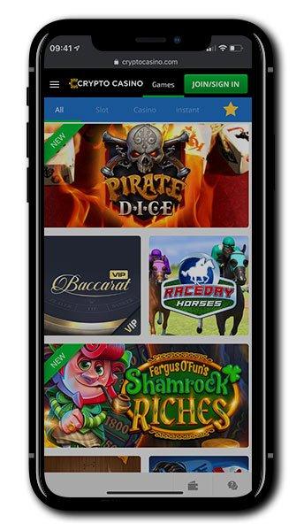 Crypto Casino mobile screenshot