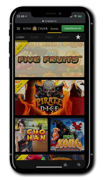 King Tiger mobile casino