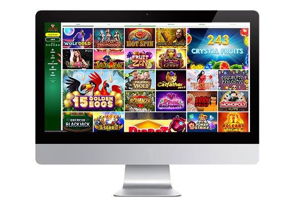 Lucky Bird Casino desktop lobby