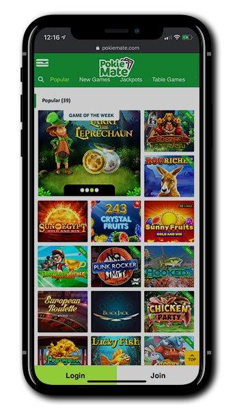 Pokie Mate Casino mobile slots