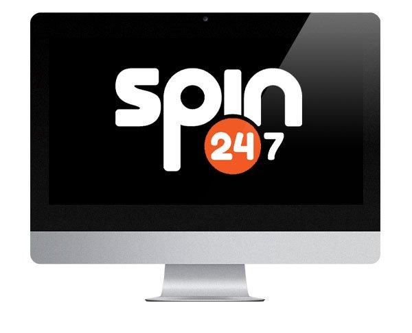 Spin247 Casino logo on screen