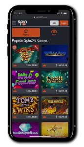 Spin247 Casino mobile gaming