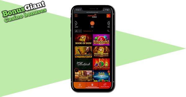 Fortune Clock Casino mobile