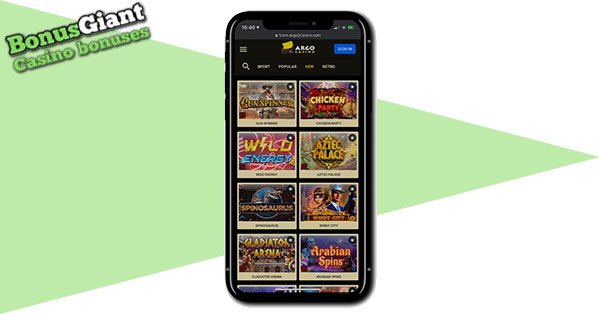 Argo Casino on mobile