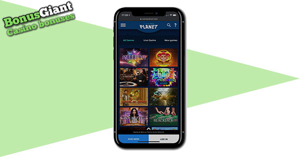 NEW Casino Planet on Mobile