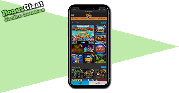 Pokiez Casino on Mobile