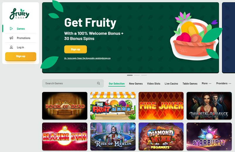 fruity casa free spins