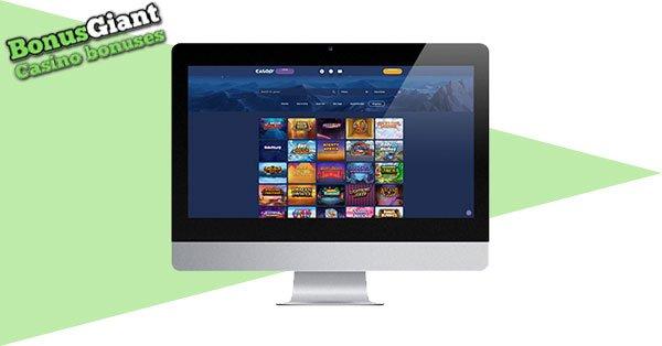 Casoo Casino on desktop