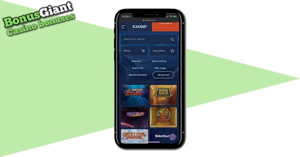 Casoo Casino on Mobile