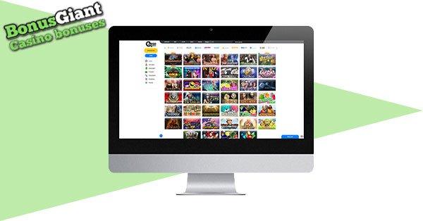 Ego Casino on desktop