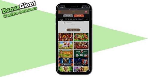 FortuneToWin Casino on mobile