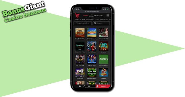 Royal Rabbit Casino on mobile