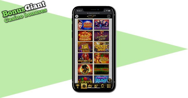 Unique Casino on mobile