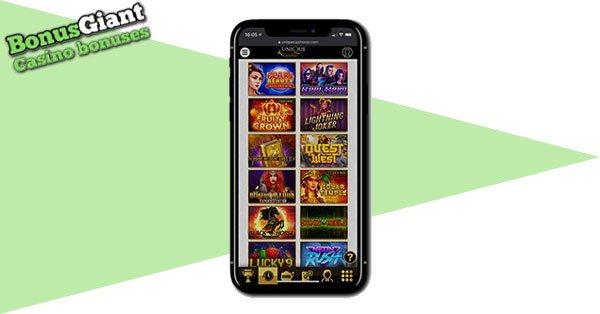 Unique Casino on mobile