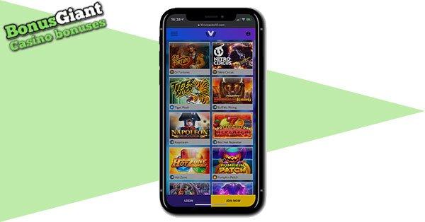 ivi Casino on mobile