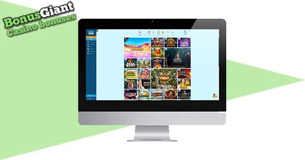 Kasino CrazePlay di desktop