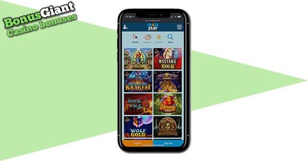 CrazePlay Casino on mobile
