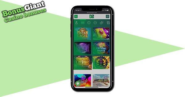 Dozenspins Casino Mobile games lobby