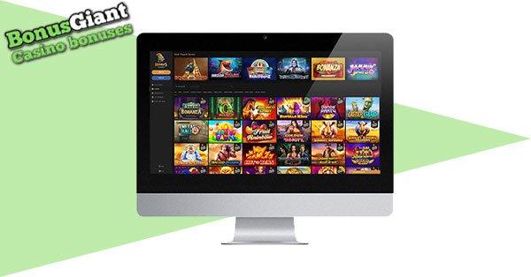 Horus Casino desktop lobby