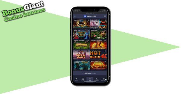 Betmaster Casino on Mobile