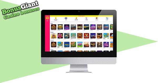 Caxino Casino Desktop lobby