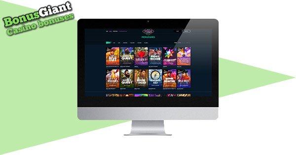 Tangkapan layar NeonVegas Casino Desktop