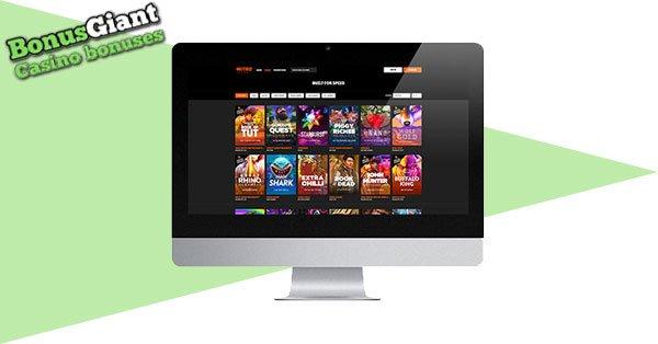 NEW Nitro Casino Desktop lobby
