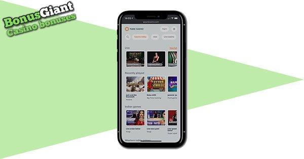 Pure Casino on mobile