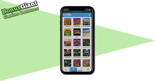 Evolve Casino mobile gaming