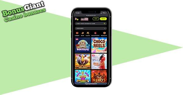 Spin Samurai Casino on mobile
