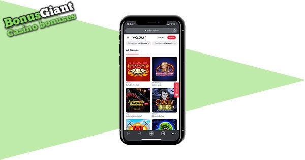 Yoju Casino mobile screenshot
