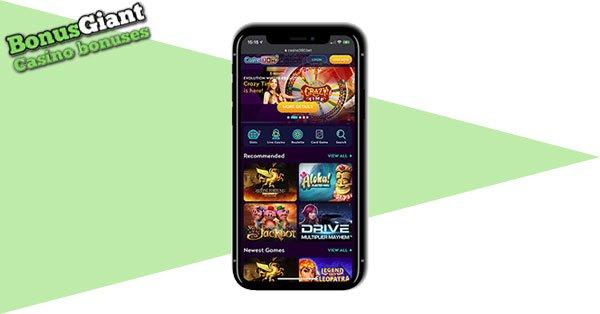Tangkapan layar kasino seluler Casino360