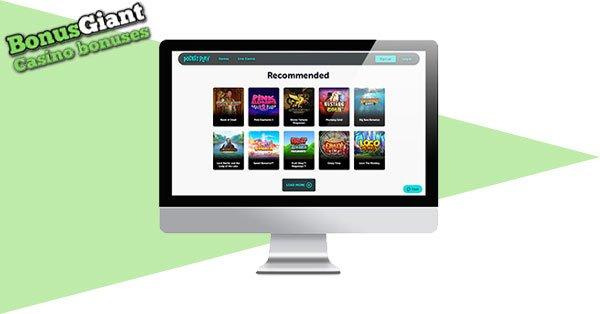 Pocket Play Casino Desktop