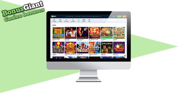 20Bet Casino Screenshot Desktop