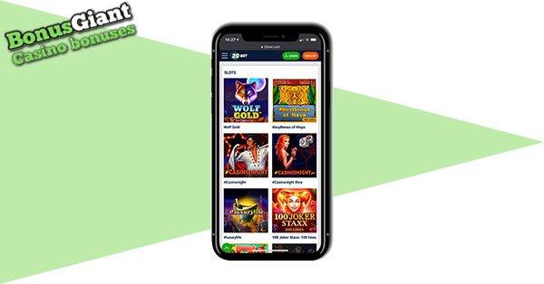 20Bet Casino Screenshot Mobile