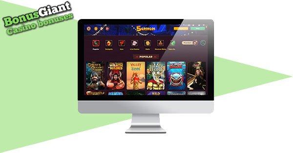 Gringos Casino Screenshot Desktop