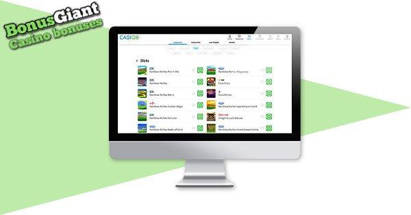 CasiGo Casino Screenshot Desktop