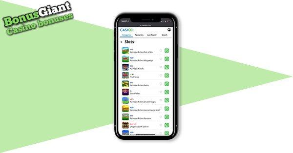 CasiGo Casino Screenshot Mobile