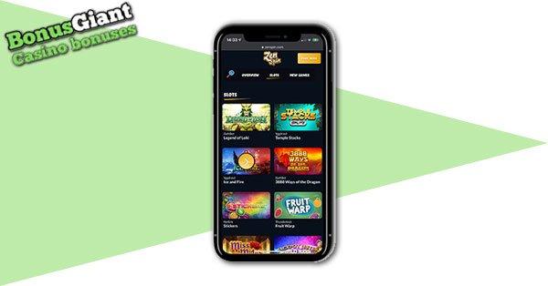 ZenSpin Casino Screenshot Mobile